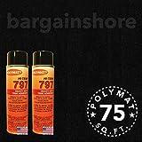 20FT X 3.75FT+2 797 GLUEChrysler Headliner Polymat Fabric S25 BLACK Carpet Liner