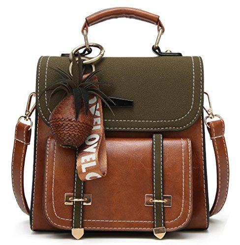 Green Purse Small brown Travel Fashion Women Bag Satchels Backpack Handbag Z45w4g8x