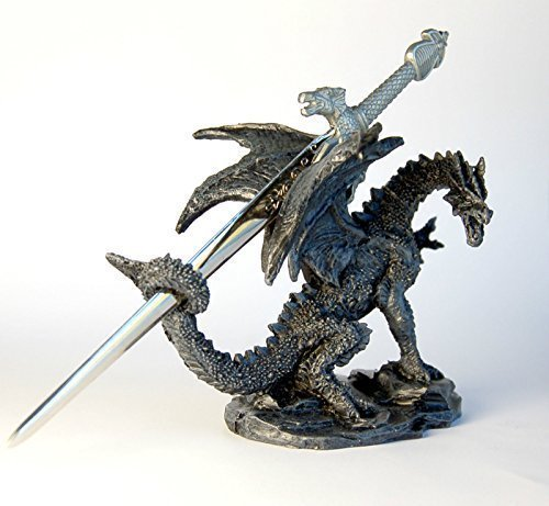 Stock4u Dragon Ornament with Sword Letter Opener, 10 cm