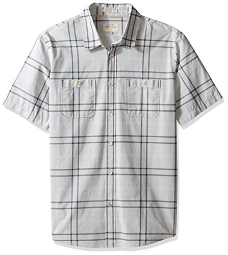Quiksilver Waterman Men's Island Job Woven Top, Glacier, XX-Large - Glacier Island