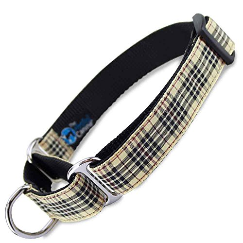 (The Artful Canine Martingale Dog Collar, London Furberry Plaid, Medium Dogs 22-35 lbs (Collar: 3/4 Wide, 10