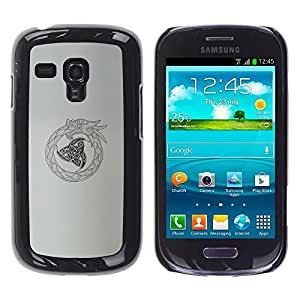 Cubierta protectora del caso de Shell Plástico    Samsung Galaxy S3 MINI NOT REGULAR! I8190 I8190N    Oroboros Snake Dragon @XPTECH