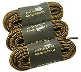 GREATLACES (3 Pair Pack) Kevlar Reinforced proTOUGH(tm) Heavy Duty Boot Laces Shoelaces (72 inch 183 cm, Rust w/Black)