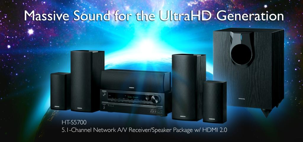 onkyo ht s5700 5 1 channel network a v receiver speaker package with bluetooth ca