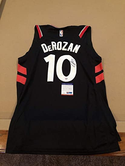 f8d3d376 Image Unavailable. Image not available for. Color: Demar Derozan  Autographed Signed Custom Toronto Raptors Jersey ...
