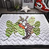 JIFAN Child Cotton Game Pad, Kids Rug Playmat, 145 * 200cm Large Size Game Pad, Kids Rugs Non Skid Girl Room Soft Carpet Washable for Living Room Bedroom Playroom Nursery