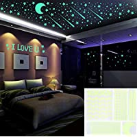 Outgeek Glow in the Dark Stars Wall Stickers, 480...