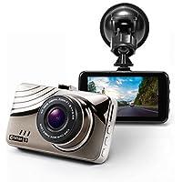 "Full HD Car Dash Cam – Corehan 1080P H.264 170 Degrees Wide Angle Lens Dashboard Camera Dvr with 3"" LCD Screen G Sensor Night Vision WDR Audio Loop Recording"