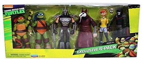 Nickelodeon Teenage Mutant Ninja Turtles Exclusive 6 Pack Figure Box ()
