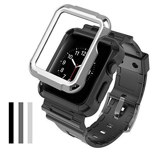 save off c0020 95b12 Simpeak Apple Watch Case with Band, [3 Packs Cover] Flexible - Import It All