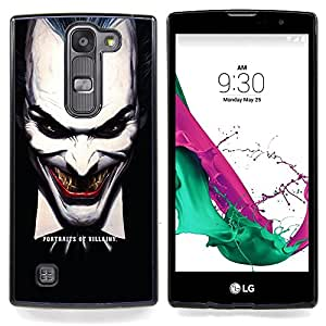 "Qstar Arte & diseño plástico duro Fundas Cover Cubre Hard Case Cover para LG G4c Curve H522Y ( G4 MINI , NOT FOR LG G4 ) (Joker Evil"")"