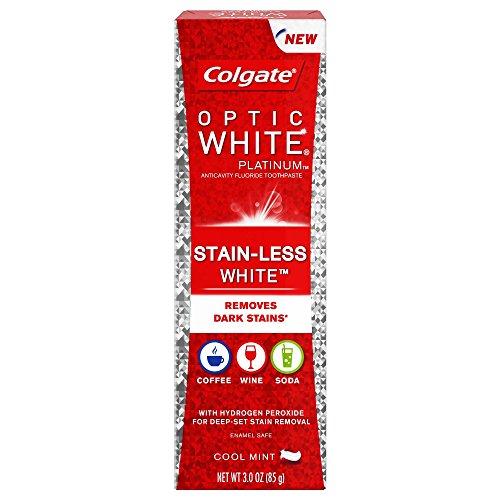 Colgate Pa Colgate Optic White Platinum Stain-less Cool Mint Whitening Toothpaste – 3oz, 3 Oz