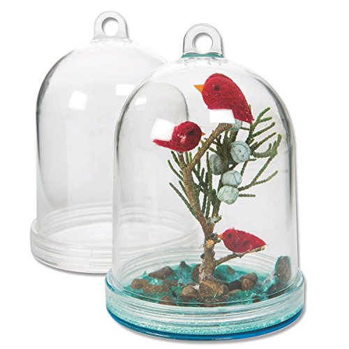 S&S Worldwide Fillable Hanging Plastic Dome (pack of 12) - Plastic Terrarium