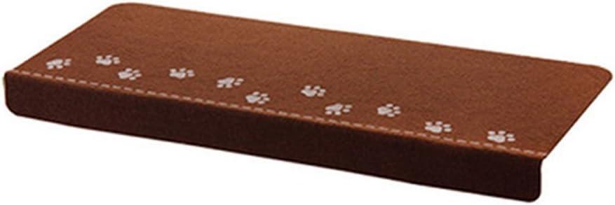 Almohadilla luminosa para escalera, patrón de huella de pata antideslizante para escalera, autoadhesiva, para niños, alfombra de seguridad (marrón) Tamaño libre marrón: Amazon.es: Hogar