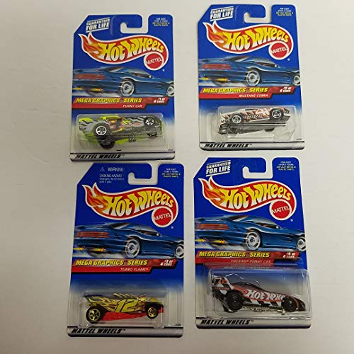 1999 Hot Wheels Mega Graphics Series Mini Set 1/64 Scale diecast car set with no. 973 974 975 976