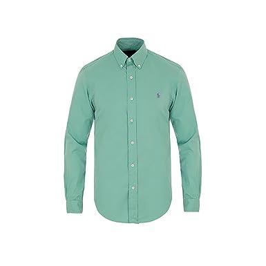 4823d8fd2 Polo Ralph Lauren - Camisa formal - para hombre verde menta Medium  Amazon. es  Ropa y accesorios