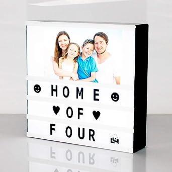 DECO LED Caja de luz cinematográfica con letras de bricolaje ...