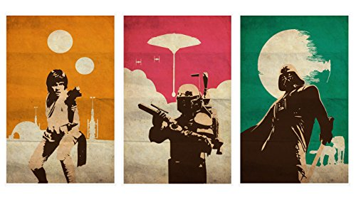 Star Posters Wars Original Movie (OHMYPOSTER Vintage Pop Art Star Wars Trilogy Set Of 3 Posters)