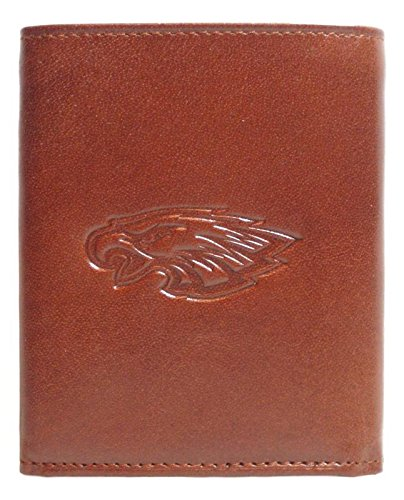 Siskiyou Philadelphia Eagles Light Brown Leather Tri-Fold Wallet