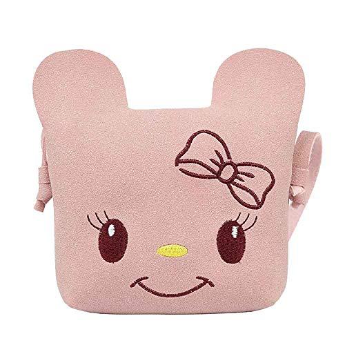 Children's Cartoon Bag, Fashion Cute Solid Color Cat Shoulder Bag Lightweight Daily Mini Wild Messenger Bag Sumeimiya Pink