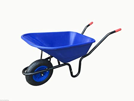 "PINK LARGE 110 LITRE WHEELBARROW WITH 14/"" PUNCTURE PROOF WHEEL"