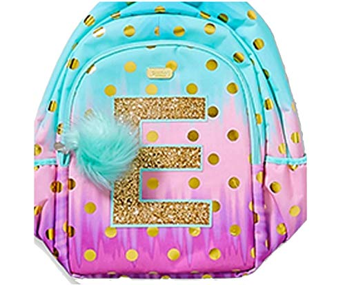 Justice School Backpack Dot Ombre Foil Initial (letter E)]()