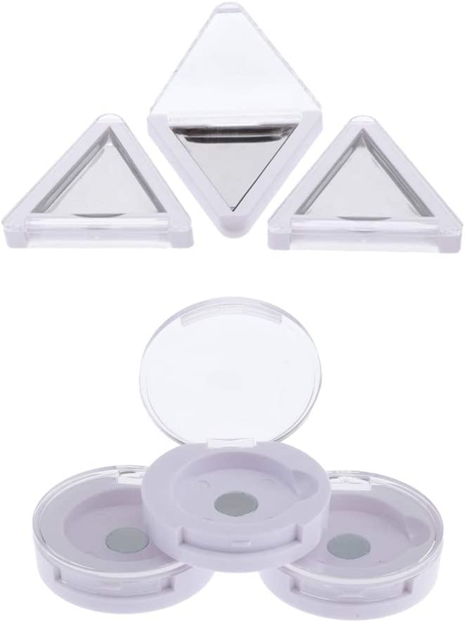 perfeclan Caja De Almacenamiento De Rubor De Maquillaje Magnética Vacía De Plástico Caja De Almacenamiento con Tapa Transparente: Amazon.es: Hogar