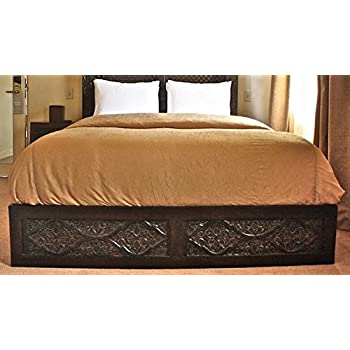 Amazon Com Carved Bed Frame Hand Carved From Solid Neem