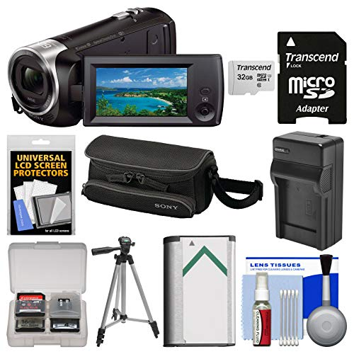 Sony Handycam HDR-CX440 8GB Wi-Fi 1080p HD Video Camera Camcorder with 32GB Card + Case + Battery & Charger + Tripod + ()