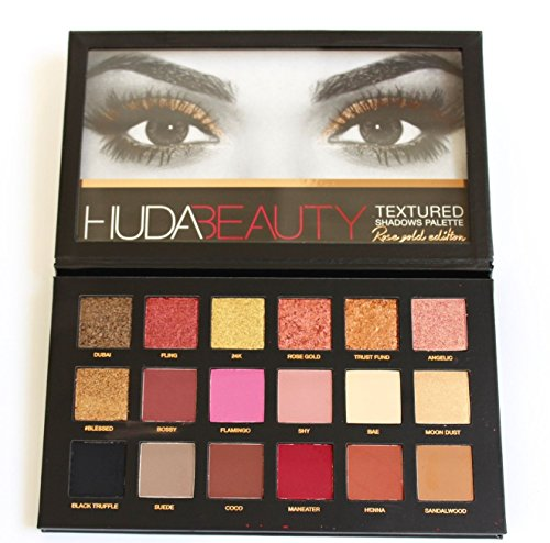 HUDA Beauty Textured Shadows Eyeshadow Palette Rose Gold Edition