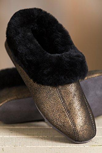 Overland Womens Slippers Scarlett Womens Merino Australian Gold Sheepskin Sparkle Overland Pwx71