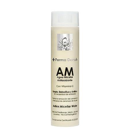 Farma Dorsch, Agua Micelar con Vitamina C para Limpieza Facial sin necesidad de aclarado -