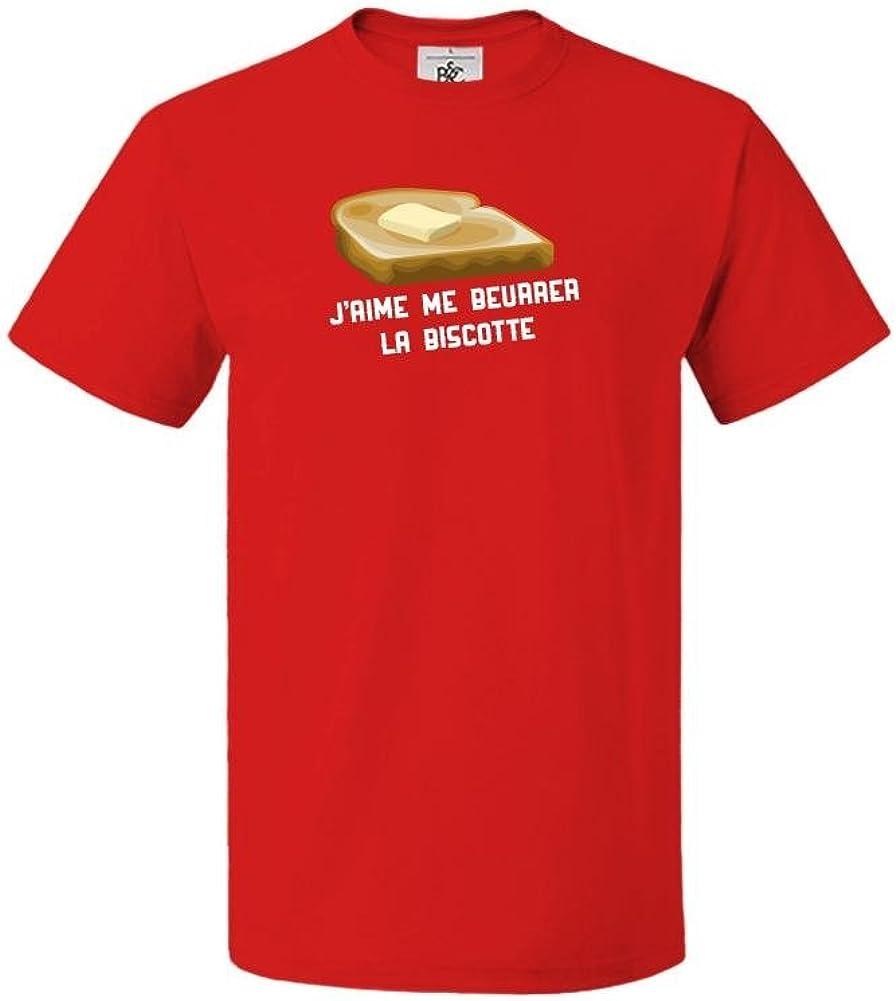 T-Shirt col Rond Homme Citation OSS 117 Jaime me beurrer la biscotte