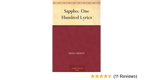 Amazon sappho one hundred lyrics ebook bliss carman kindle amazon sappho one hundred lyrics ebook bliss carman kindle store fandeluxe Gallery