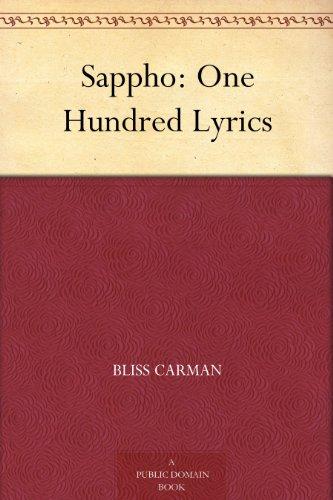 Amazon sappho one hundred lyrics ebook bliss carman kindle sappho one hundred lyrics by carman bliss fandeluxe Gallery