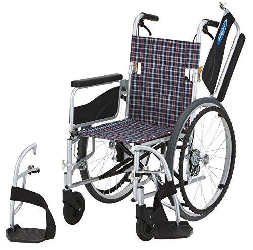日進医療器 アルミ自走車いす 座幅40cm チェック NEO-1W (自走用車いす) B01C9U4CBG
