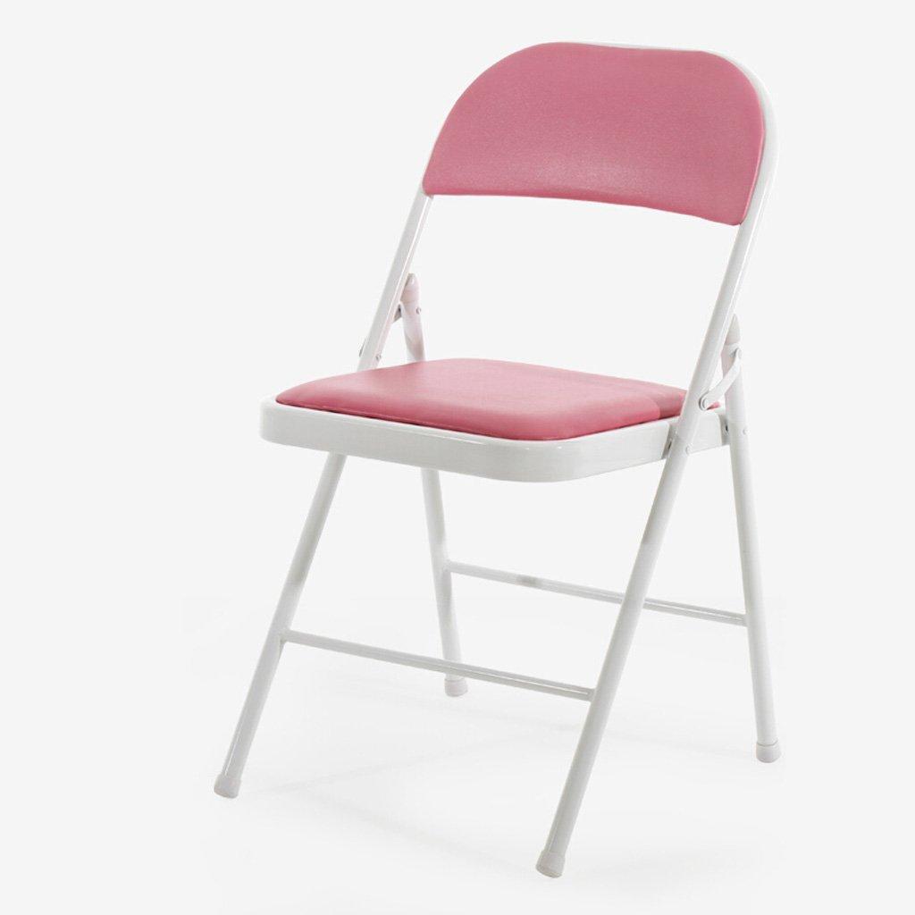 Homelx Aufgefüllter faltender Computer-Stuhl-faltender Schemel Einfacher Stahlklappstuhl-Büro-Stuhl-Konferenzstuhl-Ausbildungsstuhl