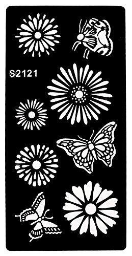 Nuovo. Tattoo Stencil Fiori e farfalle Designs S2121per koeper Beyond