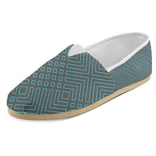 Mocassini Da Donna Di Interestprint Classico Su Tela Casual Slip On Fashion Shoes Sneakers Flat Art Geometric