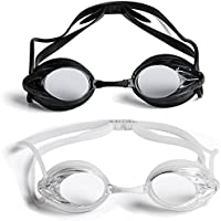 The Friendly Swede 2 Pack Swim Goggles for Adults with...