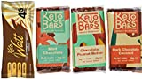 Fat Bombs Keto Bars – Chocolate Peanut Butter + Dark Chocolate Coconut + Chocolate Mint (Variety Pack, 4 Bars Sampler) For Sale