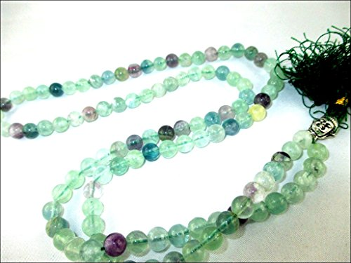 HiJet Beautiful Multi Flourite Round Bead Mala with Laughing Buddha