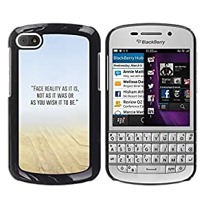 [Neutron-Star] Snap-on Series Teléfono Carcasa Funda Case Caso para BlackBerry Q10 [Arena Desierto Mist Amarillo Azul N Naturaleza]