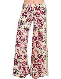 Womens Casual Tie Dye Solid Wide Leg Bottom Boho Hippie...