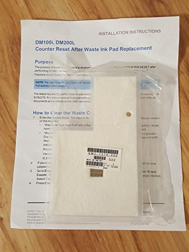 Genuine Pitney Bowes Waste Tank and Replacement Pad for DM100/DM200 New Sealed - P700WTF - to Be Installed by Pitney Bowes Technician