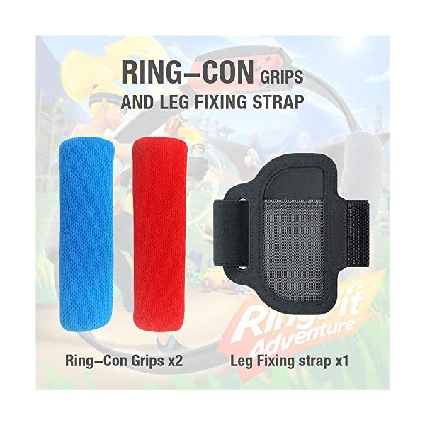 SweetCom Ring-Con Grips and Adjustable Leg Fixing Strap for Nintendo Switch Fit Adventure Game (NOT Include Ring-Con) 2