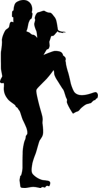 amazon com sports silhouette wall decals baseball player pitcher