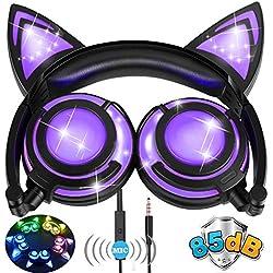 [85db Volume] Kids Cat Ear Headphones