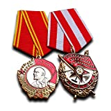 Order of Lenin + Order of The Red Banner Set - Highest Soviet Military Medal award for Exemplary Service Antique Reproduction USSR Soviet Gift