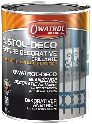 Owatrol Rustol Art Deco Lack 2 5 Liter Weiß Glänzend Baumarkt